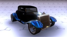 HotRod 3D Model