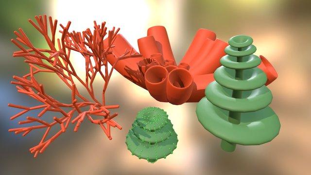 Procedurally Generated  Plants 3D Model