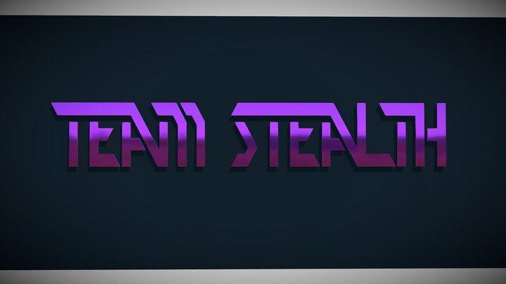 Team Stealth test logo 3D Model