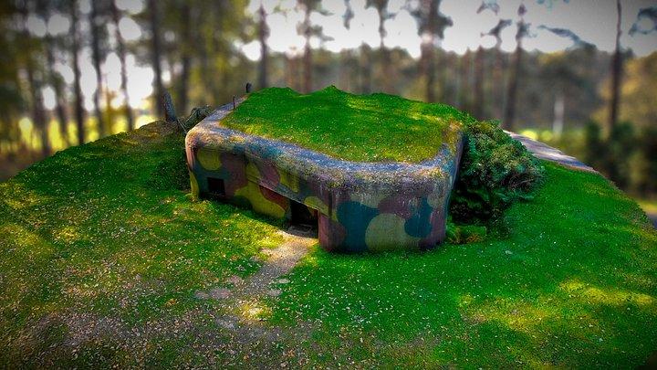 WWII Bunker Wyry (Poland) Sowiniec 3D Model