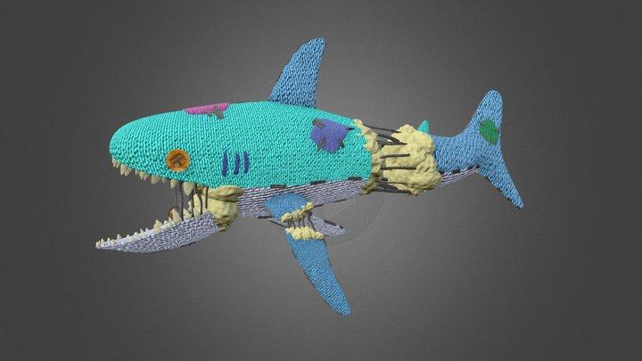Yarn Shark Plushie 3D Model