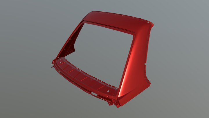 BMW M3 E30 Rear Window Frame 3D Model
