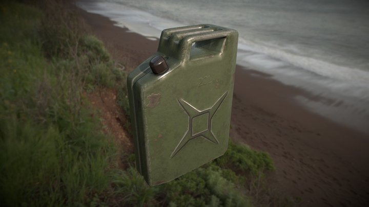 Jerry Can - Game Ready PBR 3D Model