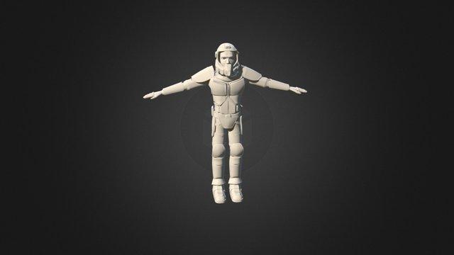 Sci-fi Miner Armor 3D Model
