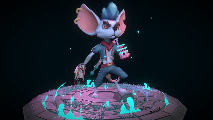 Magic Warrior Mouse 3D Model
