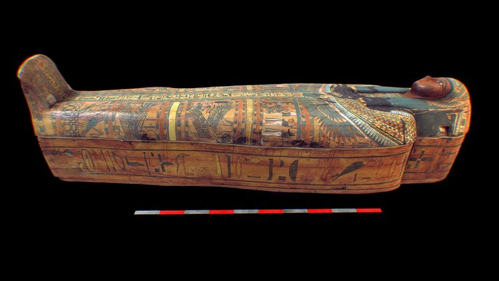 Coffin of Ankh-Khonsu 3D Model