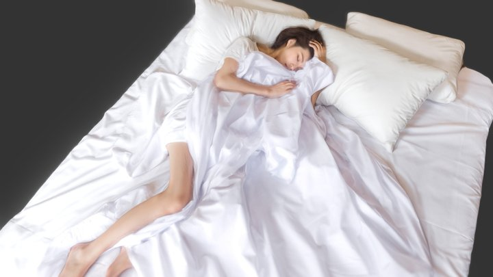 Weekend Morning-Sexy Girl in bed 3D Model