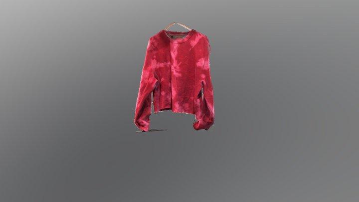Wrinkly Tie Dyed Sweatshirt 3D Model