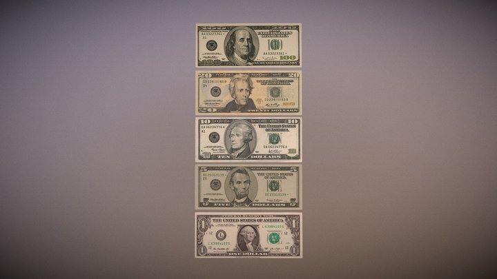 US Money 3D Model