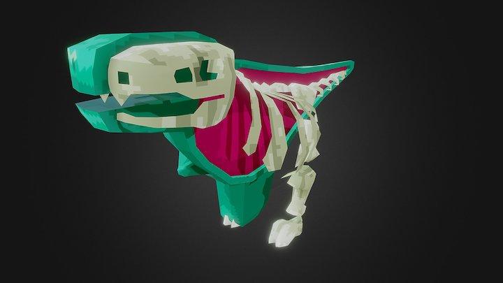 Cutaway T-Rex 3D Model
