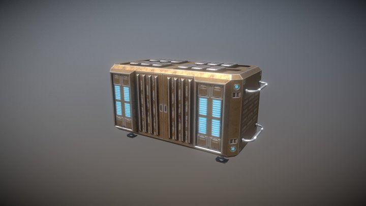 Large Storage Container 3D Model