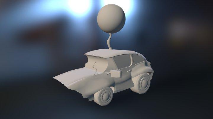 Pizza Car 3D Model
