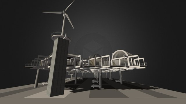 1603 Urban arcology 3D Model