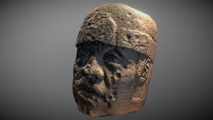 Olmec Colossal Head 3D Model