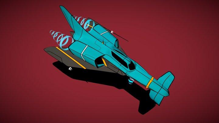 SpaceShip RaceShip!!! 3D Model