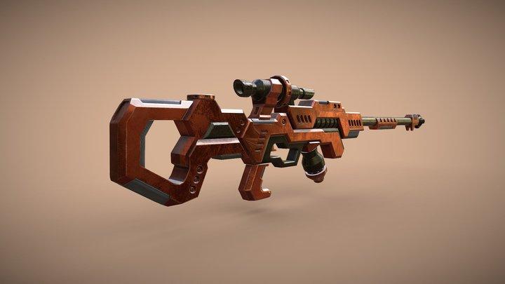 Sci-Fi Rifle/Gun/Weapon - Game ready asset. 3D Model
