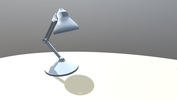 A Lamp And Ball 3D Model
