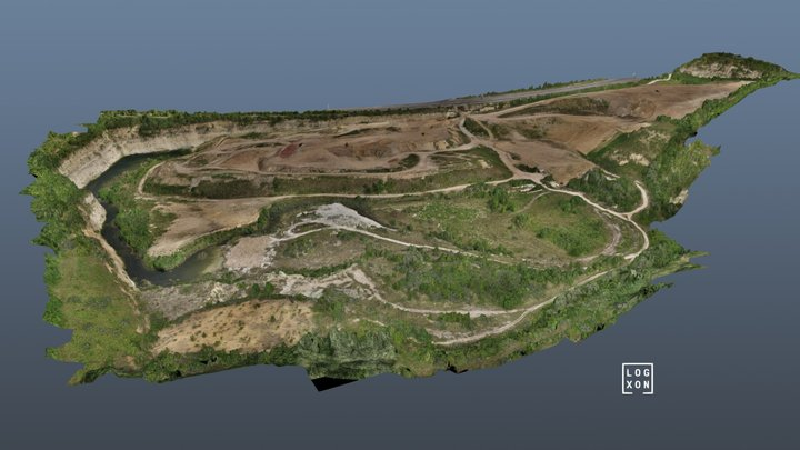 Open pit mine during recultivation 3D Model