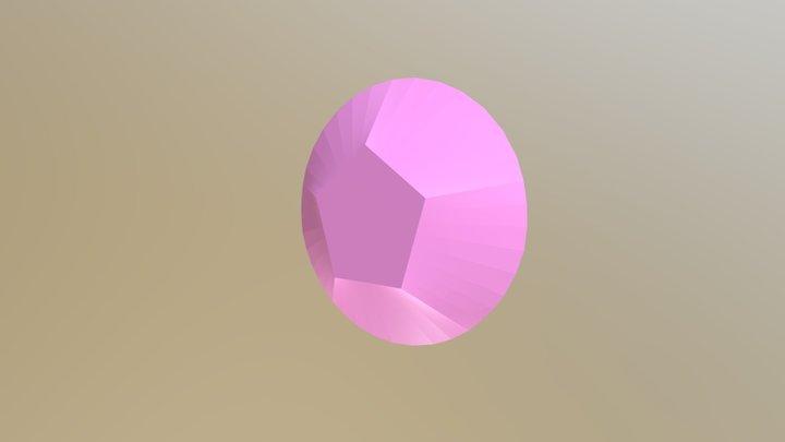 Rose Quarz Gem 3D Model