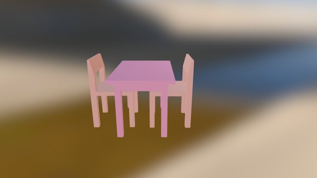 Meja-kursi 3D Model