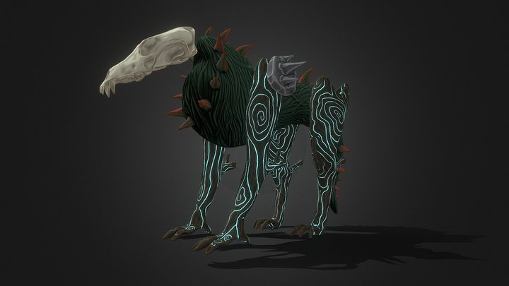 Wolf Forest Creature 3D Model