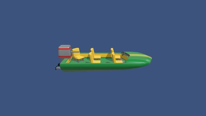 Stylized Speedboat 3D Model