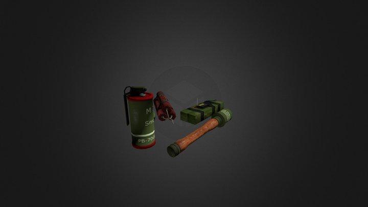 Grenade pack 3D Model