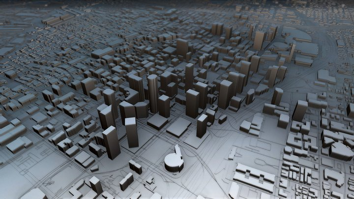Los Angeles (Downtown), USA 3D Model