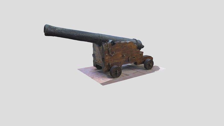 Cañón de la época napoleónica 3D Model