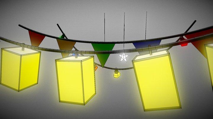 Fairy Lights 3D Model