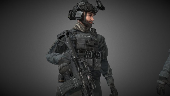 Task Force 121 captain 3D Model