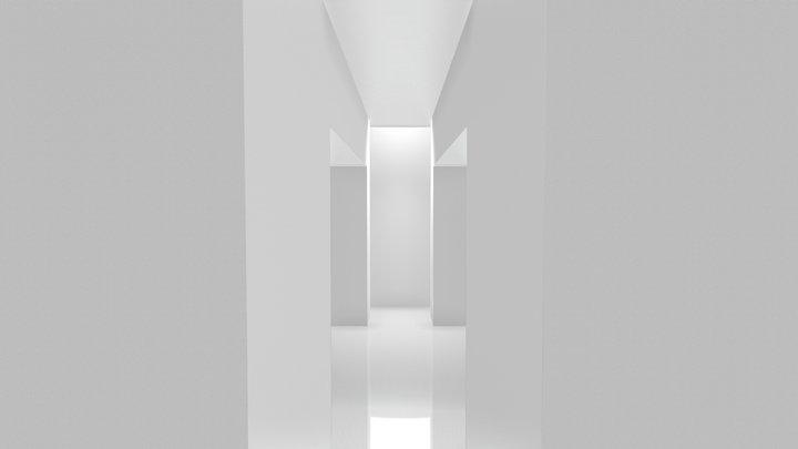 White gallery 3D Model