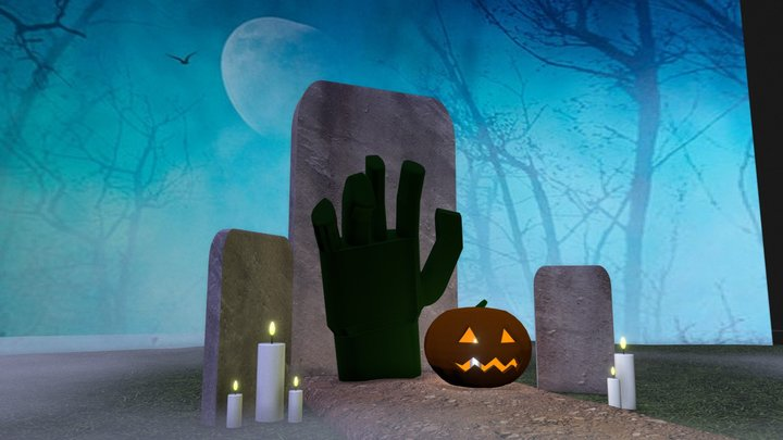 Cemetery 3D Model