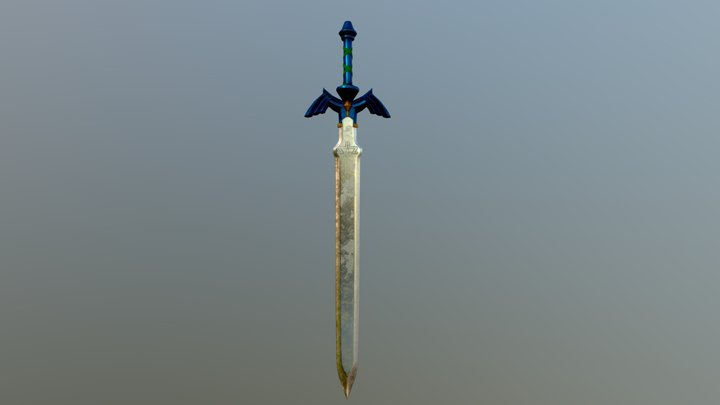 low poly Master Sword 3D Model