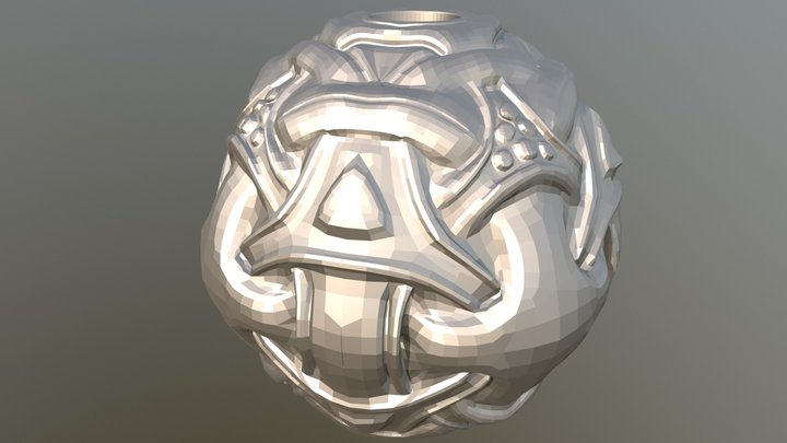 Viking Silver bead 3D Model