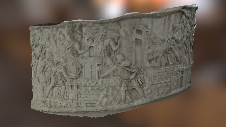 Part of Trajan's Column in Bucharest (03) 3D Model