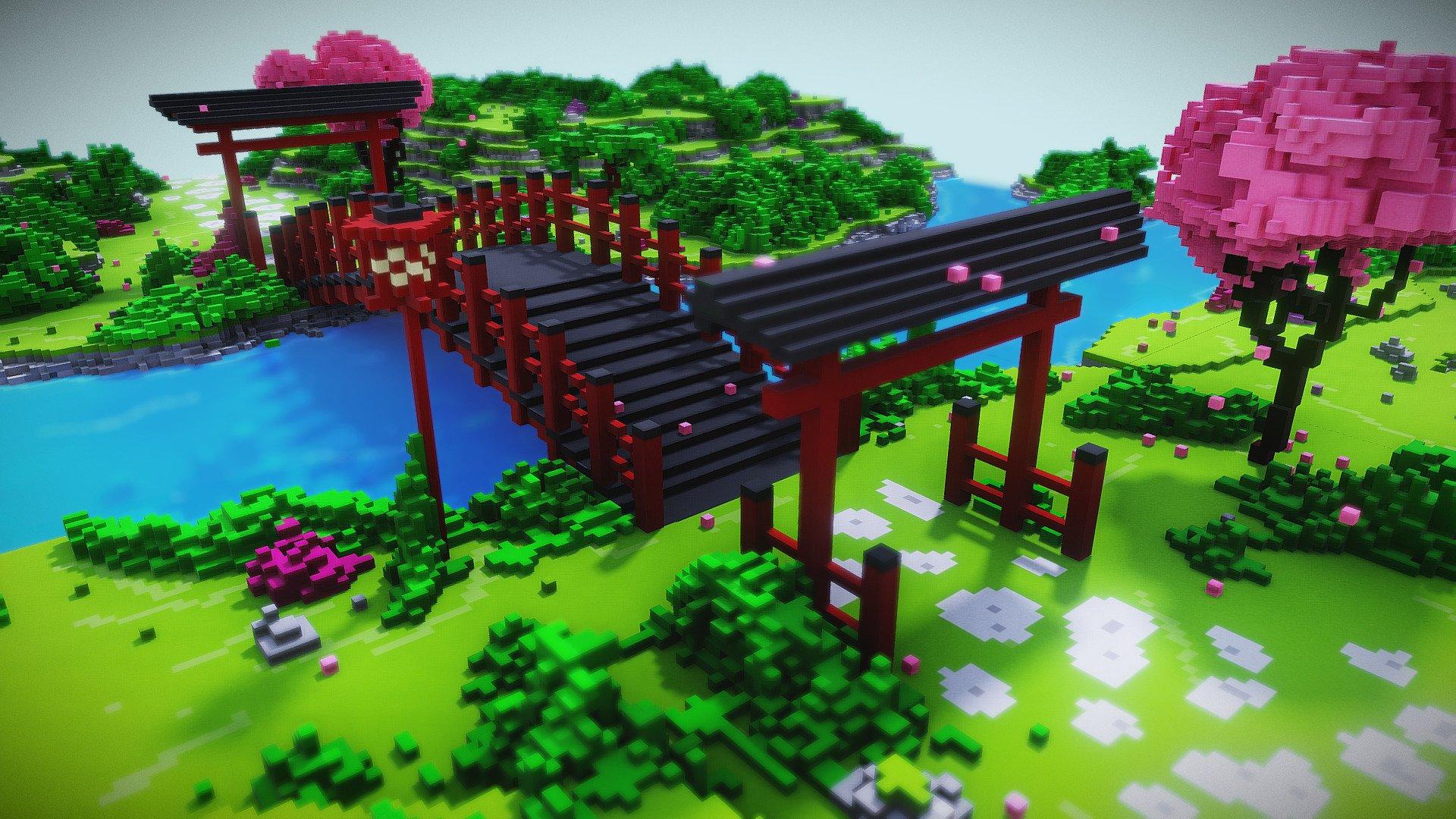 Japanese voxel garden - 3D model by Kyan0s (@kyan0s ...