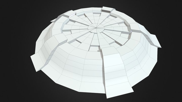 Sci-Fi Shield untextured 3D Model