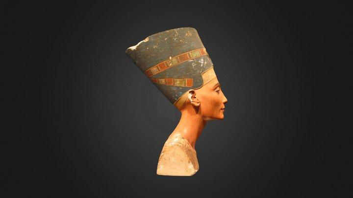 Textured Nefertiti 3D Model