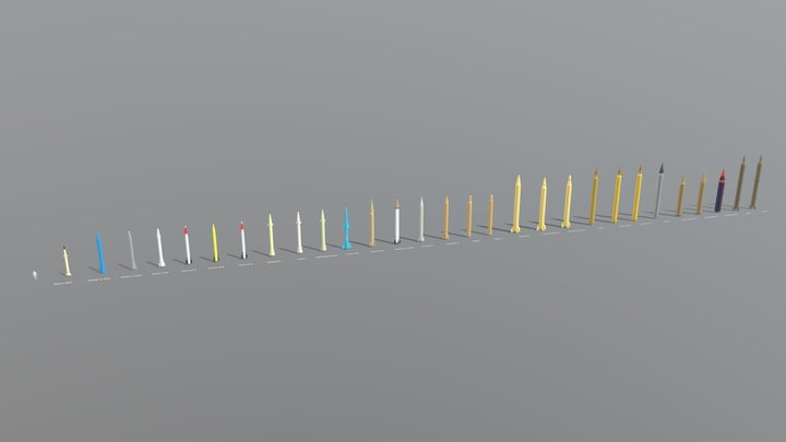 Iran missile row 3D Model