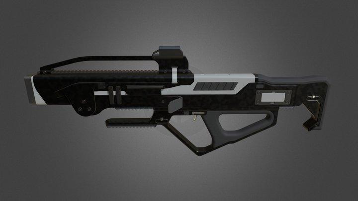 MAW-76 'Legion' Multi-Barrel Weapon 3D Model