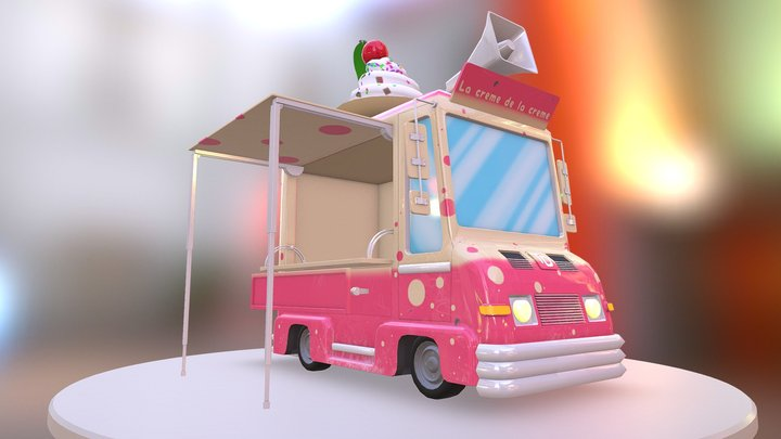 Ice Cream Truck - Game Tatassos 3D Model