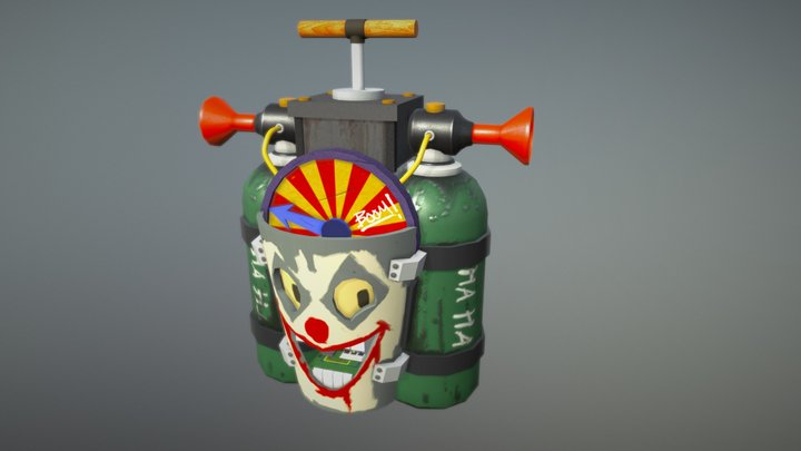 Joker's Gas Bomb (Concept By Gray Rogers) 3D Model