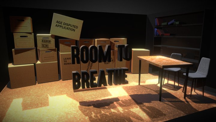 Low Poly - Arrivals - Room to Breathe 3D Model