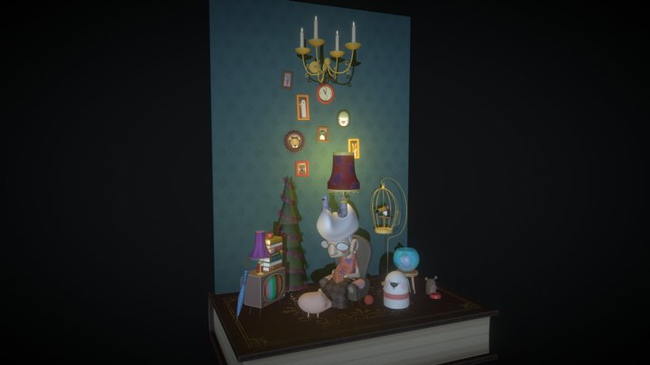Miss Rose and her pets (WIP) 3D Model