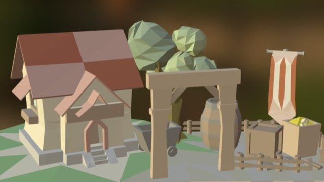 lowpoly scene 3D Model