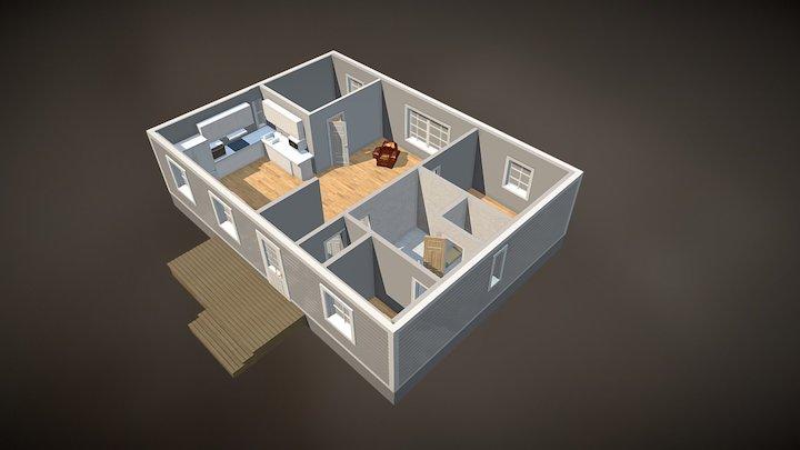 Pohjakuva rakennuksesta 3D Model