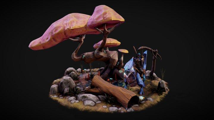 Scène Fantastique 3D Model