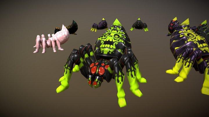 Egypt Spider Pack - Handpainted Lowpoly 3D Model