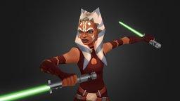 Ahsoka Tano - Star Wars : Galaxy of Heroes 3D Model